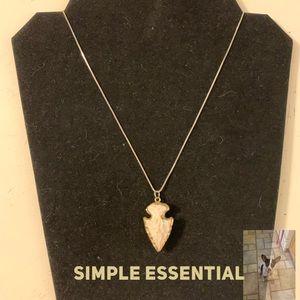 Jewelry - Gold tone arrowhead on silver tone chain